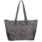 Gray Leopard 18'' Laptop Tote