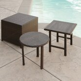 Palmilla Wicker Side Table Set