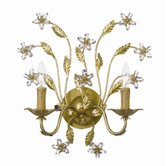 Venice Swarovski Spectra Crystal Wall Sconce in Gold Leaf