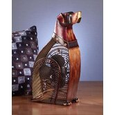 Dog Figurine Table Top Fan