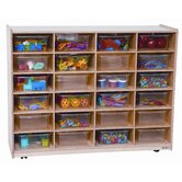 Twenty Four Large Tray Storage Unit with Clear Trays