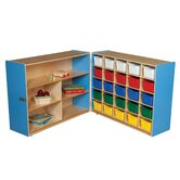 Tray and Shelf Fold Storage Unit with 25 Assorted Trays