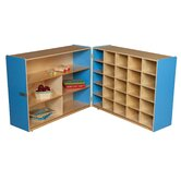 Tray and Shelf Fold Storage Unit without Trays