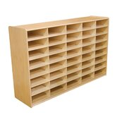 "Storage Unit with 3"" 40 Letter Trays"