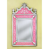 Natasha Venetian Wall Mirror in Pink