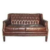 Daniel Leather Settee Loveseat