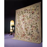 Classic Needlepoint Margate Black Flowers Rug