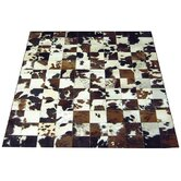 Checkerboard Haired Cowhide Rug