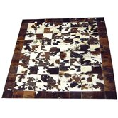 Bronze Piping Haired Cowhide Rug