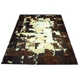 Center Patch Haired Cowhide Rug