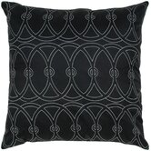 Silk Print Entangle Circle Pillow