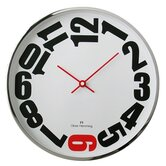 Wall Clock with Red 6
