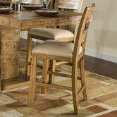 Latitude Ladder Back Pub Chair in Distressed Natural Pine