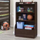 Solutions Bookcase in Distressed Brown Cherry