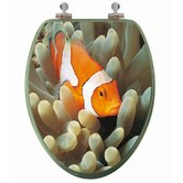 3D Ocean Series Elongated Clownfish and Anemones Toilet Seat