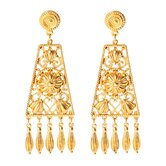 Bohemian Gold Filigree Drop Earrings