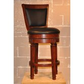 "Monticello 30"" Swivel Bar Stool in Burnished Cherry"