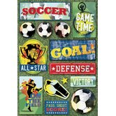 Cardstock Stickers Soccer All-Star