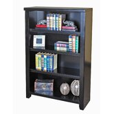 "Tribeca Loft Black Office Collection 48"" Bookcase in Distressed Painted Black"