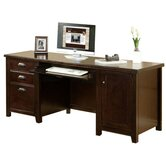Hardwood Computer Credenza