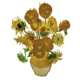 Flat Flowers Greetings Van Gogh in Sunflowers