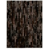 Patchwork Cowhide Linea Brownie Rug