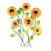 Sunflower Cluster Metal Wall Art