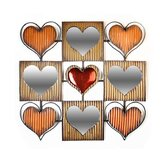 Mirrored Hearts Metal Wall Art