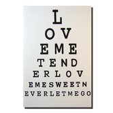 Eye Test 'Love Me Tender' Canvas Print