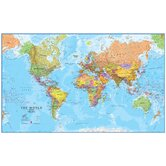 World MegaMap 1:20 Laminated Wall Map