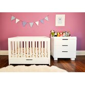 Mercer 3-in-1 Convertible Crib with Toddler Rail, Modo Changing Table, and Modo 5-Drawer Dresser