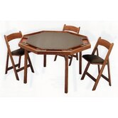 "52"" Maple Contemporary Folding Poker Table Set"