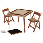 "35"" Oak Folding Game & Card Table Combo Set"