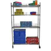 Four Tier NSF Shelving Rack in Chrome