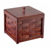 Bar Woven Mahogany Ice Bucket