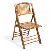 Coastal Chic Bamboo Folding Chair (Set of 4)