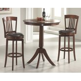 Plainview Bar Height Bistro Table with Canton Stools