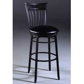 Black Cottage Swivel Counter Stool