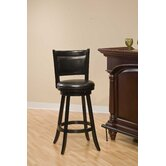 Dennery Swivel Bar Stool in Black