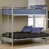Universal Youth Twin over Futon Bunk Bed with Built-In Ladder