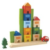 Sliding Town City Themed Building Blocks