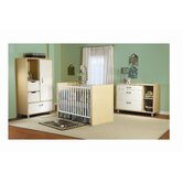 Milano Two Piece Convertible Crib Set in Natural / White