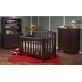 Gala Convertible Crib Set in Mocacchino