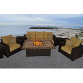 South Beach 8 Piece Deep Seating Group with Cushion