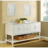 "Mission Turnleg 70"" Double Bathroom Vanity"