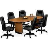 8' Racetrack Conference Table with Plith Base