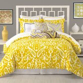 Ikat 3 Piece Duvet Set