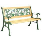 Tiffany Dragonfly Cast Iron Park Bench