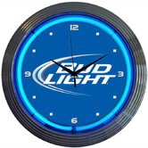 Blue Bud Light Neon Clock