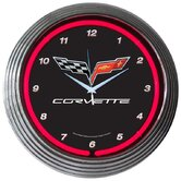 Cars and Motorcycles Corvette C6 Neon Clock